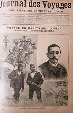 Zeitung der Voyages Nr. 672 von 1890 Afrika Äquatorial- Voyage Kapitän London
