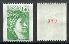 STAMP / TIMBRE FRANCE NEUF N° 2157a ** TYPE SABINE ROULETTE N° ROUGE AU DOS