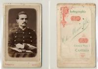 Th Marc Fils, Castres, officier, hussard, militaire, à identifier CDV vintage al