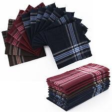 12 Herren-Taschentücher 36 x 36 cm 100% polyester Stofftaschentücher Taschentuch