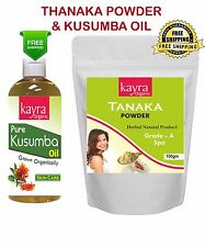 Thanaka Powder 100 gm Grade A and 200 ml Kusumba Oil For Hair Removal