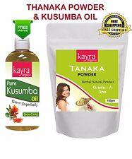 Top Selling Thanaka Powder 100 gm Grade A and 200 ml Kusumba Oil