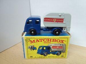 P36-MATCHBOX LESNEY No15C DENNIS REFUSE TRUCK AND BOX
