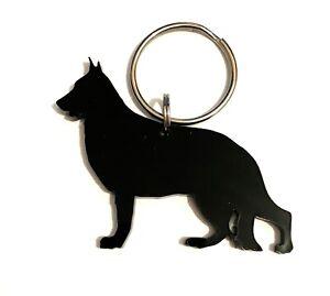 Deutsche Schäferhund Hund Gsd Schlüsselring Tasche Anhänger Band Geschenk Mit