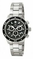 Invicta Men's Watch Specialty Black and Silver Tone Dial Steel Bracelet 1203