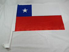 Closeout Chile Car Flag Bandera ! EZ Car Flags Car Window mounted clip on Soccer
