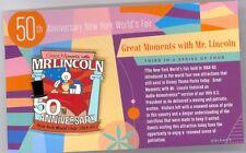 Disney 50th New York World's Fair Salute Mr. Lincoln Main Street Cast LE 500 Pin