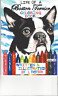BOSTON TERRIER ART COLORING BOOK TWO TITLES ON SALE BY L ROYER  AUTOGRAPHED
