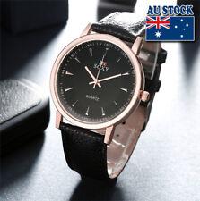 Black Leather Rose Golden Luxury Classic man Wrist Watch