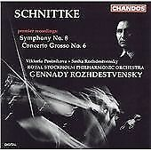 Schnittke: Symphony No. 8; Concerto grosso No. 6, , Audio CD, New, FREE & FAST D