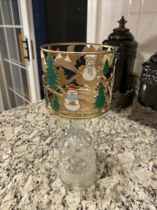 Bath & Body Works Critters , snowman,winter scene 3 WICK candle holder NWT