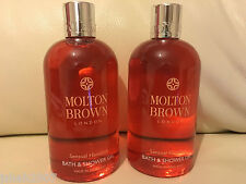 Molton Brown 2 x 300ml Sensual Hanaleni Bath & Shower Gel NEW *LOOK*