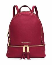 NWT Michael Kors Rhea Zip Medium Leather Backpack Cherry 30S5SEZB1L $298