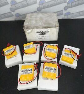 LOT OF 6 - DANTONA - Custom-93 Emergency Light Battery 3.6V, 800mAh (NEW in BOX)