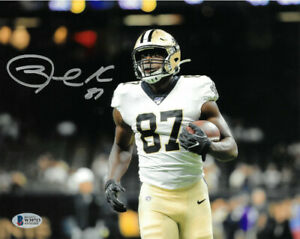 Jared Cook signed New Orleans Saints 8x10 Photo #87- Beckett-BAS Witnessed Holo
