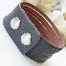 Mens Belt Leather Surfer Wristband Bracelet