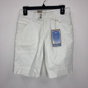 levis 515 womens shorts size 4p mid rise white shorts 10