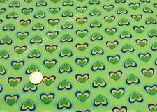 Green Hearts apfelgrün Baumwolle Webware Blumenstoff Stenzo 25 cm Popeline nähen