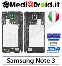 SAMSUNG GALAXY NOTE 3 N9005 NERO MIDDLE FRAME CORNICE TELAIO CENTRALE LATERALE