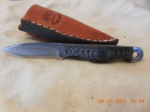 ANZA  HANDMADE FIXED  BLADE KNIFE MICARTA HANDLE #913 MODEL MINI