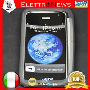 Custodia Cover TPU Grigia Silver Iphone 3G Apple Antiurto
