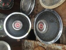 Vintage Set of 2 Spoked  Hub Cap Rat Rod Man Garage Wall art