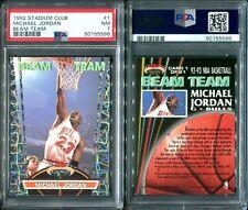 PSA 7 1992-93 Stadium Club Beam Team #1 Michael Jordan POP98 Bulls  G00 3361