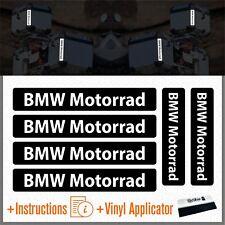 6x BMW Motocicleta Black REFLEXIVO ADHESIVOS PEGATINA R1200 1150 F800 F650 F700