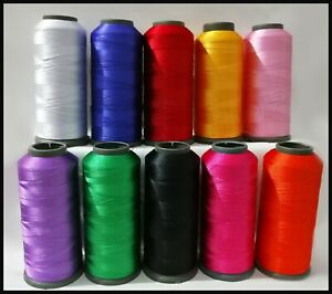 10 Colours Silk Cone Embroidery Thread for jewelry making Guterman ,John Lewis