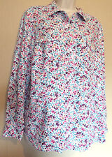 Marks & Spencer Classic UK14 EU42 US10 white blouse with multi-coloured flowers