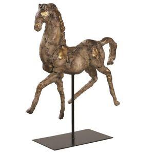 "VINTAGE FARMHOUSE INSPIRED XXL 17"" HORSE STATUE SCULPTURE AGED FINISH UTTERMOST"