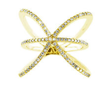 Ring Wedding Band Ring 14K Gold Natural 0.6Ct Round Diamond Right Hand