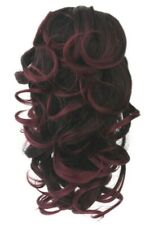 Ponytail, Wavy Hair Extension, Grip Claw Blonde Brown Ombre, Hair Piece