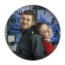 Glaswanduhr bedruckt mit deinem Foto Bild, Spruch oder Logo Fotogeschenke