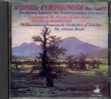 WEBER - Symphonies 1 & 2 - BEETHOVEN - Coriolan / Leonore 3 - Neville MARRINER