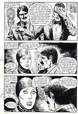 LE VENTRILOQUE DE L'AU DELA (PLEYERS) PLANCHE ORIGINALE PAGE 77