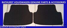 Volkswagen Golf Mark 7 Rear Rubber Floor Mats Black GENUINE NEW