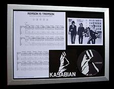 KASABIAN Reason Treason CD TOP QUALITY MUSIC FRAMED DISPLAY+EXPRESS GLOBAL SHIP