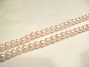 210+ pcs x Glass Pearl 4mm Round Beads: #87C P Pink
