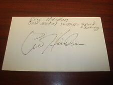 Eric Heiden 1980 Gold Speed Skating Signed 3X5 Index Card Authentic Auto M7