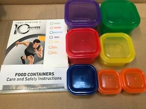 TONY HORTON 10 MINUTE TRAINER + 7PC PORTION POTS WORKOUT DVD EXERCISE FITNESS
