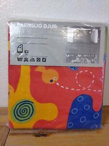 Ikea TWIN Kids Children Duvet Quilt Cover 2 pc set  BARNSLIG DJUR Animals Bright
