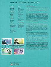 #1126 Forever American Scientists #4541-44Souvenir Page