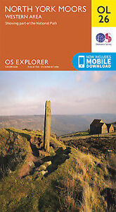 OL26 North Yorkshire Moors Western Area Ordnance Survey Explorer Map OL 26