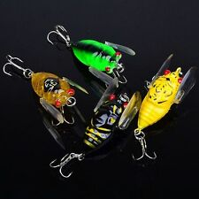 4pcs  Bass Popper Fishing Lures Crankbaits Hook Cicada Floating Tackle