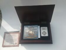 1783 FF Mexico El Cazador Shipwreck Silver Coin 2 Reales NGC & Wood Display Box