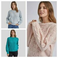 Womens Ladies DP Dorothy Perkins Pink Blue Teal Pointelle Stitch Knit Jumper