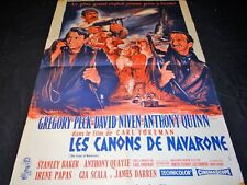 LES CANONS DE NAVARONE  gregory peck  anthony quinn affiche cinema