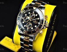 ➤➤NWT Invicta Men 44mm PRO DIVER Quartz Chronograph Two Tone Black Dial SS Watch