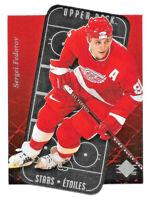 1995-96 Sergei Fedorov Upper Deck SP Stars Etoiles Die Cut - Detroit Red Wings
